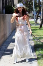 PHOEBE PRICE Out with her Dog in Los Angeles 08/03/2021