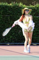 PHOEBE PRICE Playing Tennis in Los Angeles 08/02/2021