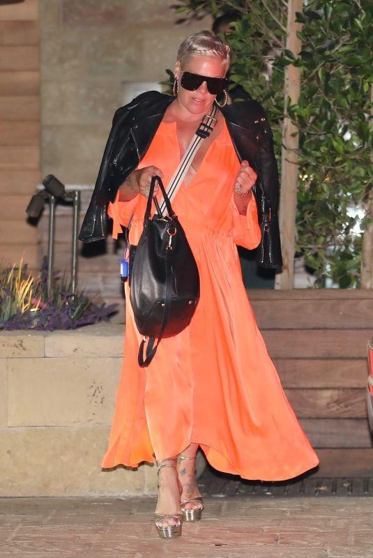 PINK Leaves Soho House in Malibu 08/05/2021