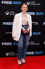 SADIE SINK at Free Guy Premiere in New York 08/03/2021