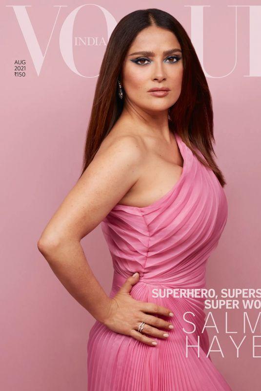 SALMA HAYEK in Vogue Magazine, India August 2021