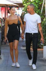 SHANINA SHAIK and Matthew Adesuyan at IL Pastaio in Beverly Hills 08/03/2021