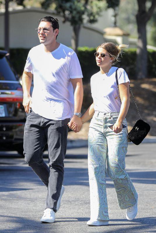 SOFIA RICHIE and Elliot Grainge Out in Malibu 08/29/2021