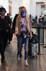 TARA REID Arrives at LAX Airport in Los Angeles 08/01/2021