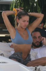 THYLANE BLONDEAU in Bikini at a Yacht in Saint Tropez 08/12/2021