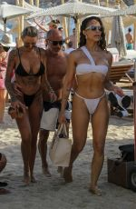 TINA LOUISE and AMANZA SMITH in Bikinis at a Beach in Mykonos 08/01/2021