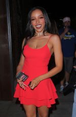 TINASHE Leaves Tao in Los Angeles 08/04/2021