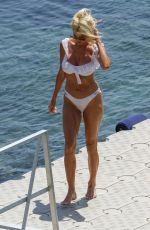 VICTORIA SILVSTEDT in a White Bikini at a Beach in Mykonos 08/01/2021