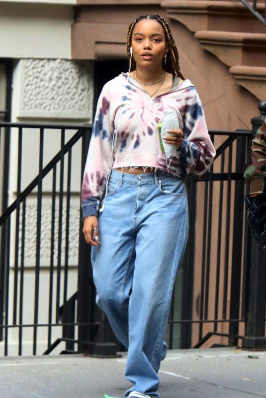 WHITNEY PEAK on the Set of Gossip Girl in New York 08/20/2021