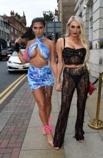 ZARALENA JACKSON Out with a Girlfriend in Manchester 08/01/2021