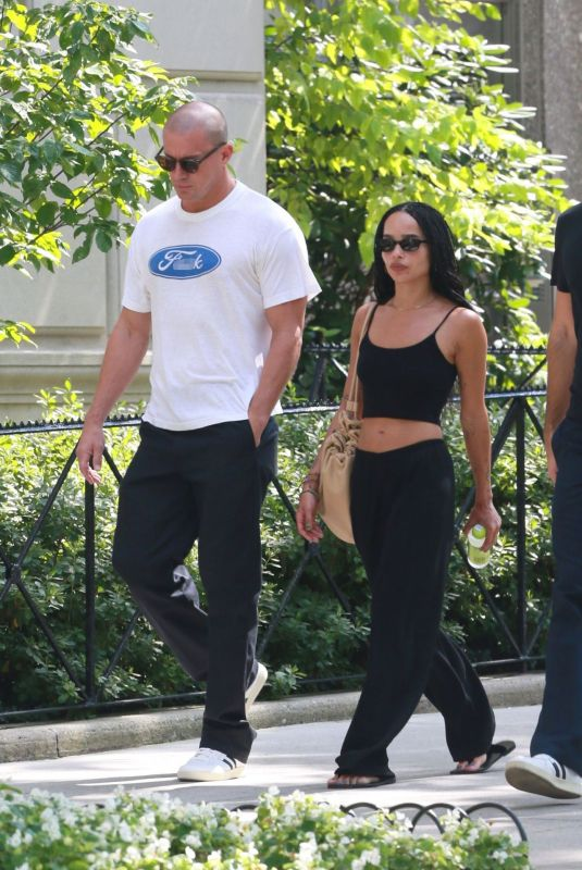 ZOE KRAVITZ and Channing Tatum Out at Central Park 08/27/2021
