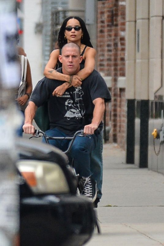ZOE KRAVITZ and Channing Tatum Out in New York 08/18/2021
