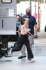 ZOEY DEUTCH on the Set of Not Ok in New York 08/13/2021