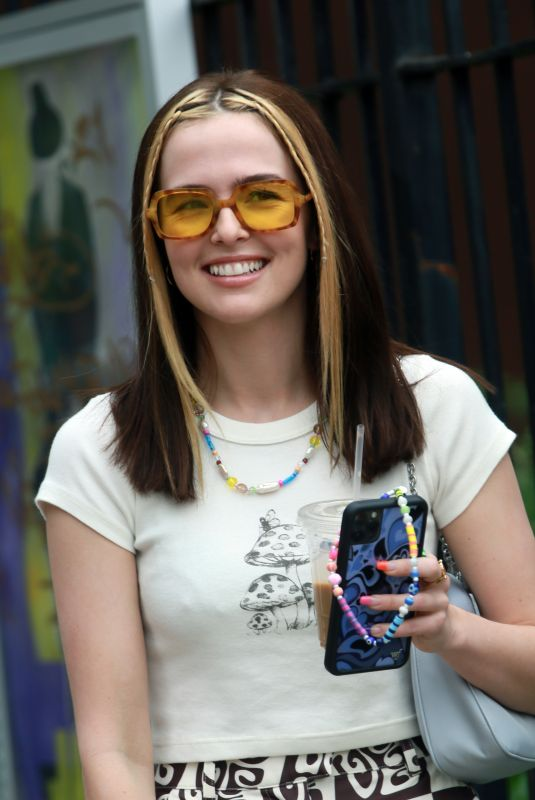 ZOEY DEUTCH on the Set of Not Okay in New York 08/08/2021