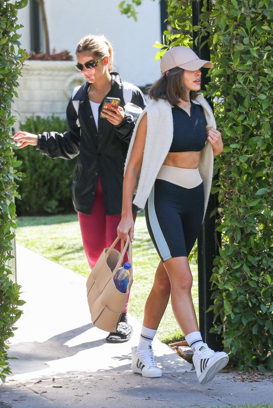 ADDISON RAE and OLIVIA CULPO Leaves Forma Pilates in Los Angeles 09/22/2021