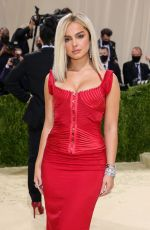 ADDISON RAE at 2021 Met Gala in New York 09/13/2021