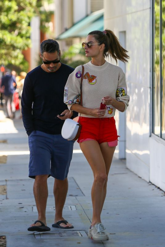 ALESSANDRA AMBROSIO and Richard Lee Out in Los Angeles 09/19/2021