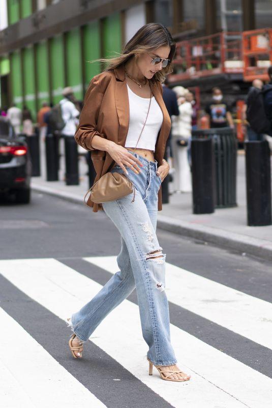 ALESSANDRA AMBROSIO at Patbo Show at New York Fashion Week 09/08/2021