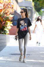 ALESSANDRA AMBROSIO Heading to Pilates Class in Santa Monica 09/21/2021