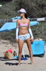 ALESSANDRA AMBROSIO in Bikini Plays Volleyball on Santa Monica Beach 09/18/2021