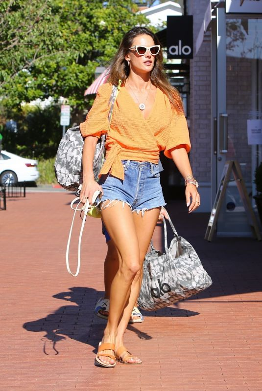 ALESSANDRA AMBROSIO Out Shopping in Brentwood 09/12/2021