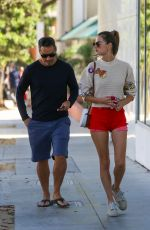 ALESSANDRA AMBROSIO Out to Lunch at Hillstone in Santa Monica 09/19/2021