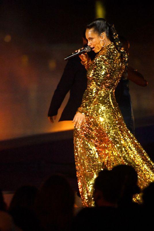 ALICIA KEYS Performs at 2021 MTV VMAs in Brooklyn 09/12/2021