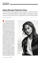 ALICIA VIKANDER in Entertainment Weekly, October 2021