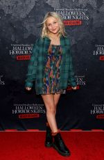 ALYVIA ALYN LIND at Halloween Horror Nights Opening Night at Universal Studios 09/09/2021