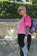 AMBER ROSE Out and About in Los Angeles 09/17/2021
