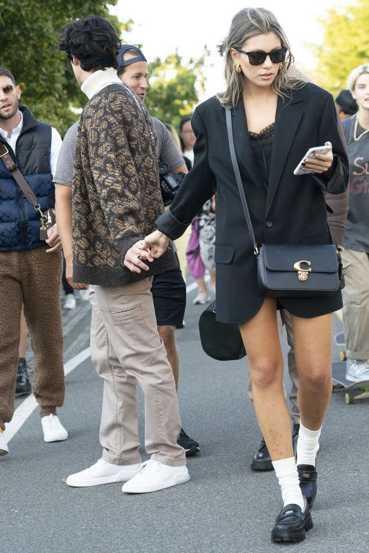 AMELIE ZILBER at Arrives Coach Show at New York Fashion Week 09/10/2021