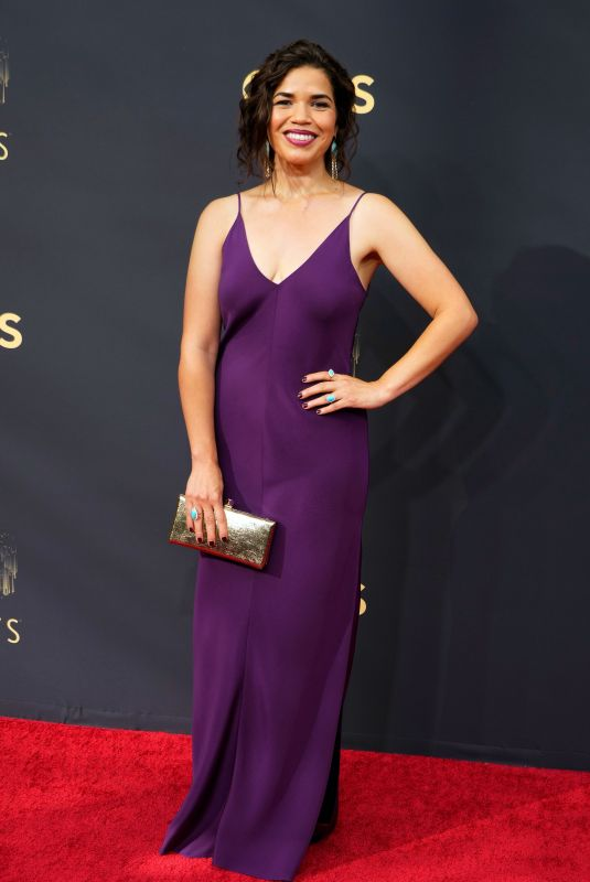 AMERICA FERRERA at 73rd Primetime Emmy Awards in Los Angeles 09/19/2021