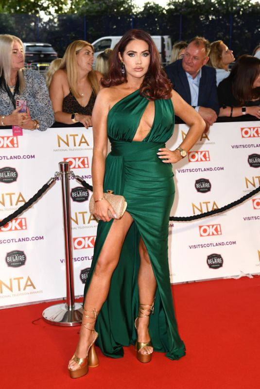 AMY CHILDS at National Television Awards 2021 at O2 Arena in London 09/09/2021