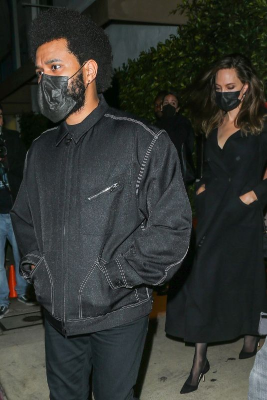 ANGELINA JOLIE and The Weeknd at Giorgio Baldi in Santa Monica 09/26/2021