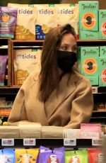 ANGELINA JOLIE Shopping at Erewhon Market in West Hollywood 09/18/2021