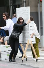 ANNE HATHAWAY and Jared Leto on the Set of WeCrashed in New York 09/08/2021