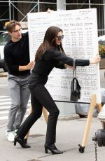 ANNE HATHAWAY on the Set of Wecrashed in New York 09/08/2021