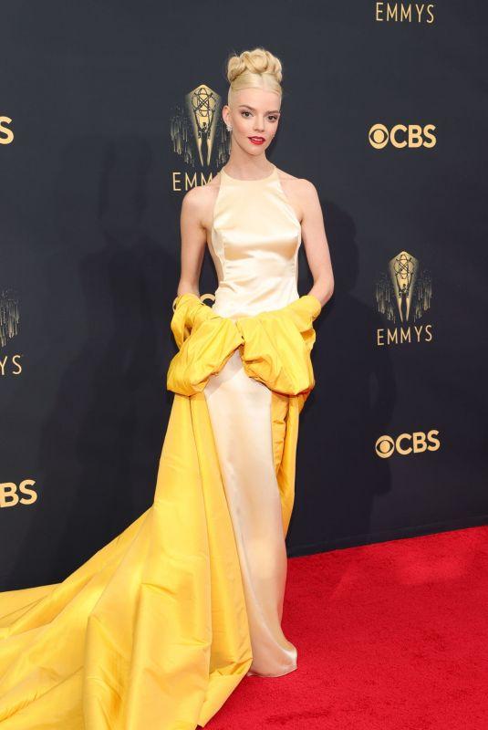 ANYA TAYLOR-JOY at 73rd Primetime Emmy Awards in Los Angeles 09/19/2021