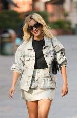 ASHLEY ROBERTS Arrives at Heart Radio in London 09/22/2021