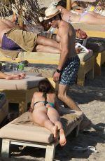AURORA RAMAZOTTI in Bikini at a Beach in Mykonos 08/09/2021
