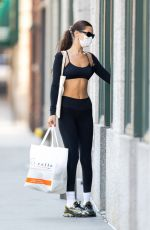 BELLA HADID Arrives at a Gym in New York 09/06/2021