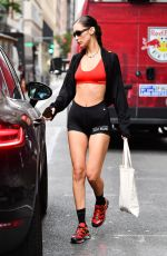 BELLA HADID Heading to a Gym in New York 09/20/2021