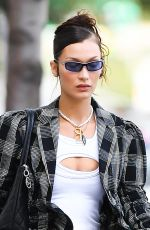 BELLA HADID Out in New York 09/21/2021
