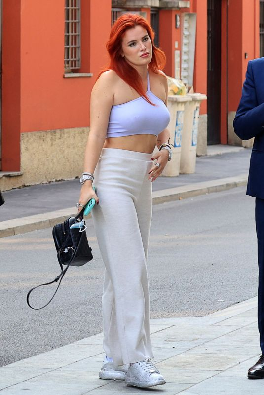 BELLA THORNE Out and About in Milan 09/29/2021