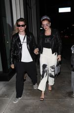 BELLA THORNE Out with Boyfriend at Catch LA in West Hollywood 09/12/2021