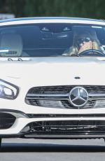 BRITNEY SPEARS Out Driving Her Mercedes-AMG SL 63 in Calabasas 09/01/2021