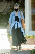 CAMERON DIAZ Leaves a Skincare Clinic in West Hollywood 09/04/2021