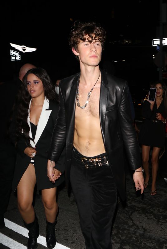 CAMILA CABELLO and Shawn Mendes Heading to Met Gala Afterparty in New York 09/13/2021