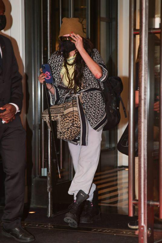 CARA DELEVINGNE Leaves Her Hotel in New York 09/14/2021