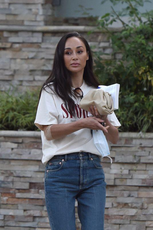 CARA SANTANA Leaves a Friend's House in Los Angeles 09/02/2021